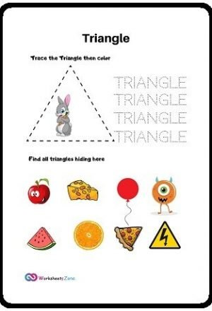 Triangle free worksheet