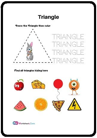 Triangle free worksheet
