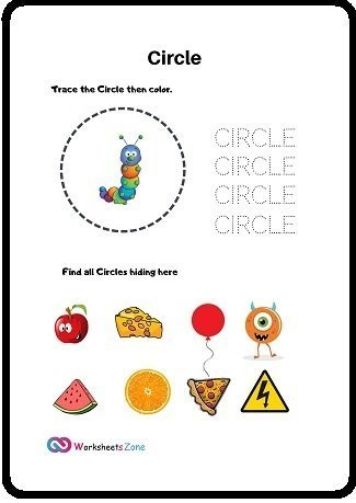 Circle free worksheet
