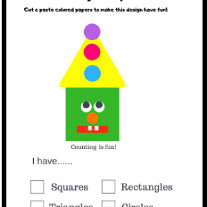 free shapes worksheets for kindergarten