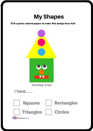 free shapes worksheets for kindergarten