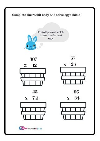 Multiplication Worksheets 2 by3Digits