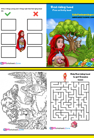 activity printable red riding hood