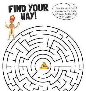 Ancient Egypt activities free maze worksheet