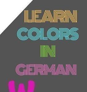 colors in German free worksheets