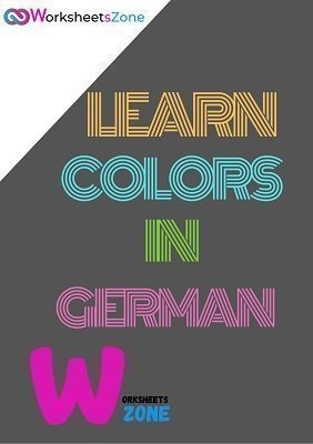 colors in German free worksheets