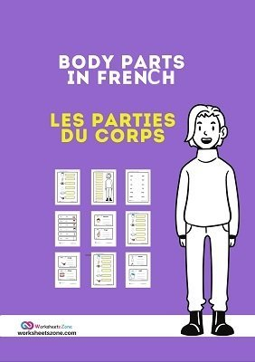Body parts in French free worksheet
