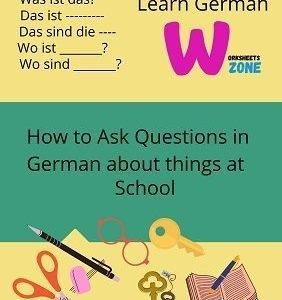 Ask Questions in German free worksheet printable