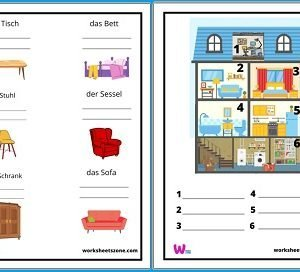 German House and Furniture Vocabulary worksheet free download