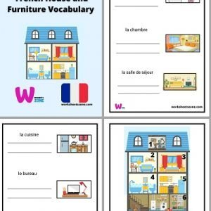 French House and Furniture Vocabulary worksheet free