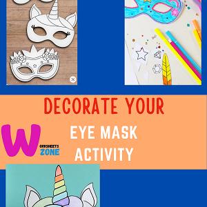 kids free prantable summer activity mask decoration