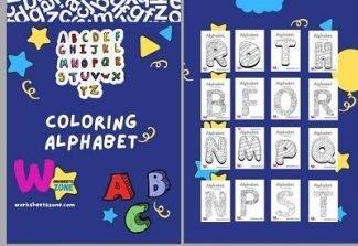 Alphabet Coloring Pages free worksheet workbook printables pdf